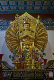 Buddyjska statua w Zhanshan świątyni, Qingdao Zdjęcie Stock