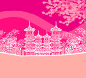 Buddyjska Zen świątynia Obraz Royalty Free