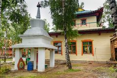 Buddyjski datsan Dechen Ravzhalin w Arshan Rosja Obraz Royalty Free