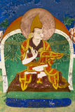 Buddyjski fresk przy Thikse Gompa w Ladakh Obraz Royalty Free