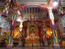 Buddyjski gompa w Górnym Pisang, Nepal obrazy royalty free