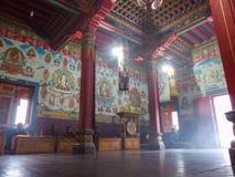 Buddyjski gompa w Górnym Pisang, Nepal zdjęcie royalty free