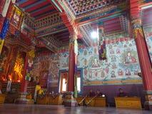 Buddyjski gompa w Górnym Pisang, Nepal obraz royalty free