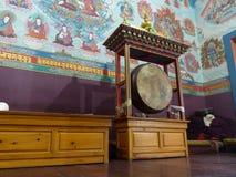 Buddyjski gompa w Górnym Pisang, Nepal fotografia stock