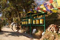Buddyjski Kora spacer, McLeod Ganj, India Zdjęcia Royalty Free