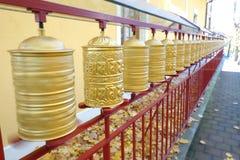 Buddyjski Modlitewnych kół Wirować Zdjęcie Royalty Free