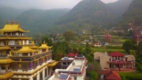 Buddyjski monaster, Kathmandu dolina Nepal, Październik, - 16, 2017 zdjęcie wideo