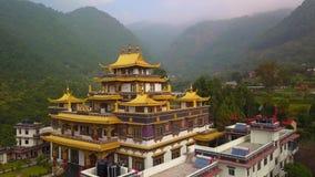 Buddyjski monaster, Kathmandu dolina Nepal, Październik, - 16, 2017 zbiory wideo