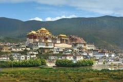 Buddyjski monaster w Shangrila Obrazy Royalty Free