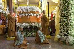Buddyjski pogrzeb Zdjęcia Stock