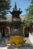 Buddyjski tripod dla modlitwy w Zhanshan świątyni, Qingdao Obraz Royalty Free