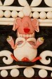 Buddyjski yak masło rzeźbi, Gyuto monaster, Dharamshala, Wewnątrz Obrazy Royalty Free