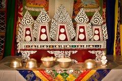 Buddyjski yak masło rzeźbi, Gyuto monaster, Dharamshala, Wewnątrz Fotografia Stock