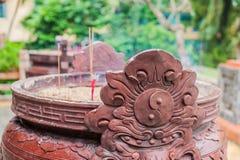 Buddyjskich modlitwa kijów inside świątynia zdjęcia stock