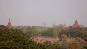 Buddyjskie świątynie przy Bagan królestwem, Myanmar zdjęcie wideo