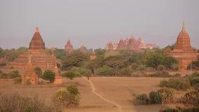 Buddyjskie świątynie w Bagan, Myanmar zbiory