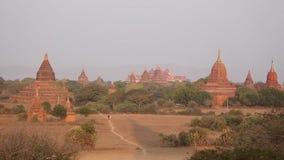 Buddyjskie świątynie w Bagan, Myanmar zdjęcie wideo