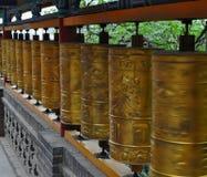 buddyjskie modlitewne rolki zdjęcie royalty free