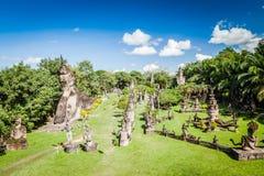 Buddyjskie statuy przy Buddha parkiem, Wata xiengkuane, Vientiane, Laos Zdjęcie Stock