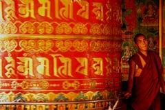 buddyjskiego michaelita Nepal modlitewni kręcenia koła Fotografia Royalty Free