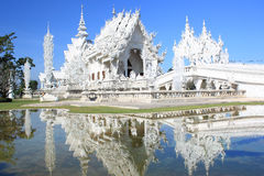 buddyjskiej świątyni biel Fotografia Royalty Free