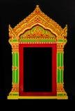 buddyjskiej świątyni okno Zdjęcia Royalty Free
