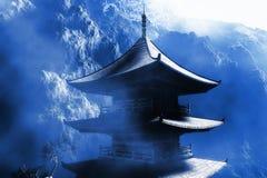 buddyjskiej świątyni zen royalty ilustracja