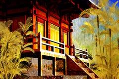 buddyjskiej świątyni zen ilustracji
