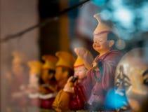 Buddysta Bawi się Szczęśliwe twarze obrazy royalty free