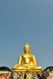 Buddyzm statua przy Złotym trójbokiem, Chiangsan, Chiangmai, Thaila Fotografia Royalty Free