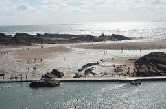 Bude海滩,康沃尔郡 库存照片