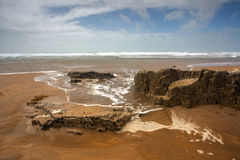 Bude Beach. The gloriously rugged Crooklet`s beach in Bude Stock Image