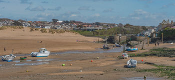 Bude beach, located in South West England. A photograph of Bude's beach which is located in South West, England Stock Photos