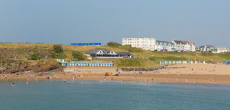 Bude beach North Cornwall during July heatwave. BUDE, CORNWALL-JULY 8TH 2013:  The July heatwave in England continues and holidaymakers flock to Bude beach Royalty Free Stock Photo