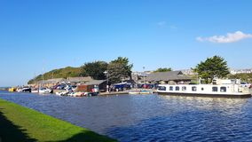 Free Bude Canal . Devon And Cornwall Boarder. Uk Royalty Free Stock Image - 128427526