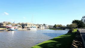 Bude Canal . Devon and Cornwall boarder. Uk stock photos
