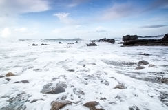 Bude harbour beach in cornwall uk england Stock Image