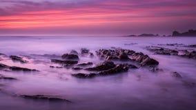 Bude-Sonnenuntergang Stockbild