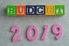 Budget 2019 Lizenzfreies Stockfoto