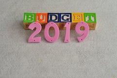 Budget 2019 Lizenzfreies Stockbild