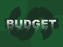 Budget illustration stock