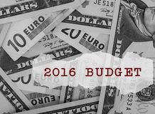 Budget 2016 Lizenzfreies Stockbild