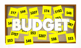 Budget Accounting Bookkeeping Sticky Notes Royalty Free Stock Photography
