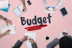 Budget against business meeting Royalty Free Stock Photo