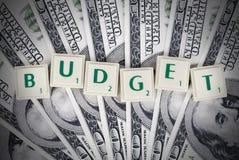 Budget- allsång royaltyfri bild