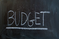 The budget Stock Image