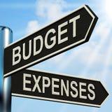 Budget-Ausgaben-Wegweiser bedeutet Geschäft stock abbildung
