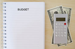 Budget background, financial concept Stock Photo