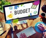 Budget-Bankwesen-Buchhaltungs-Investitions-Buchhaltungs-Konzept Lizenzfreie Stockfotografie