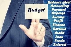 Budget- begrepp Royaltyfri Foto